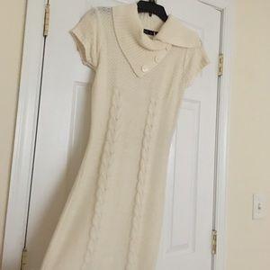 Cream white warm dress s/m size